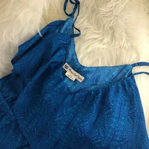 S AMERICAN EAGLE OUTFITTERS BRIGHT BLUE DRESS